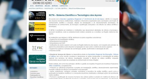 Governo dos Açores apoia a participação de cientistas em reuniões internacionais