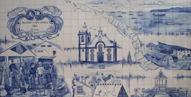 Crise Sísmica de 1964 recordada em Painel de Azulejos da autoria de António Pedroso  (c/audio)