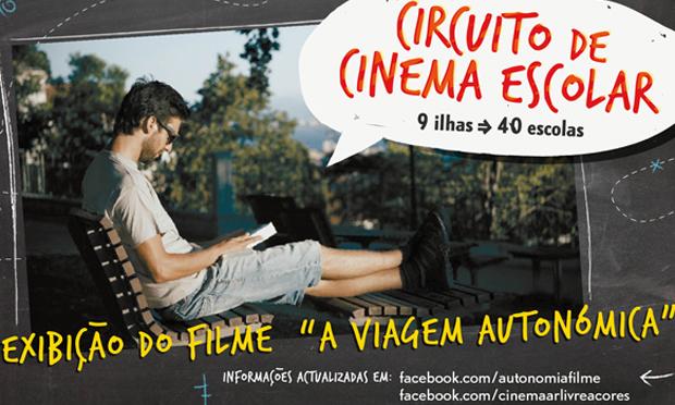 """Filme """"A Viagem Autonómica"""" exibido no Circuito de Cinema Escolar – Açores 2014"""