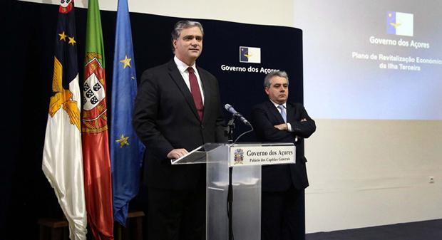 Governo avança de imediato com medidas da sua responsabilidade para a Terceira, afirma Vasco Cordeiro