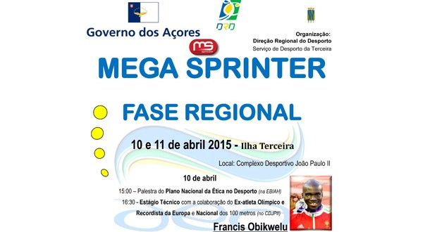 Fase Regional do MegaSprinter/MegaSalto decorre a 10 e 11 de abril, em Angra do Heroísmo