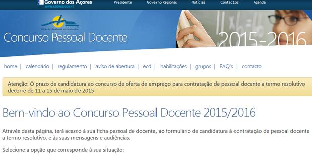 Lista de candidatos ao concurso externo extraordinário de provimento de pessoal docente em 2015/2016 já está disponível