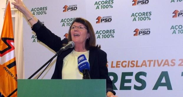 """Votar PSD nos Açores é """"dar força a Passos Coelho"""", afirma Berta Cabral"""