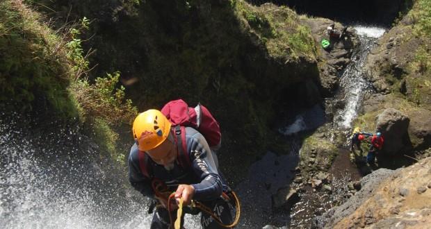Os 100 participantes do II Encontro Internacional de Canyoning em S.Jorge já estão na ilha