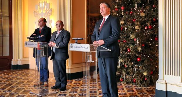 Presidente do Governo recebeu Sindicato dos Bancários do Sul e Ilhas