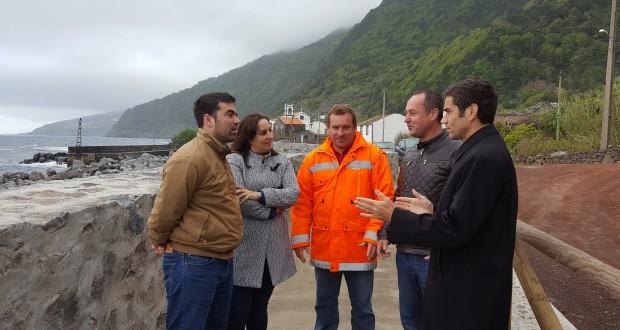 Concluída obra de proteção costeira na Fajã dos Vimes, em São Jorge