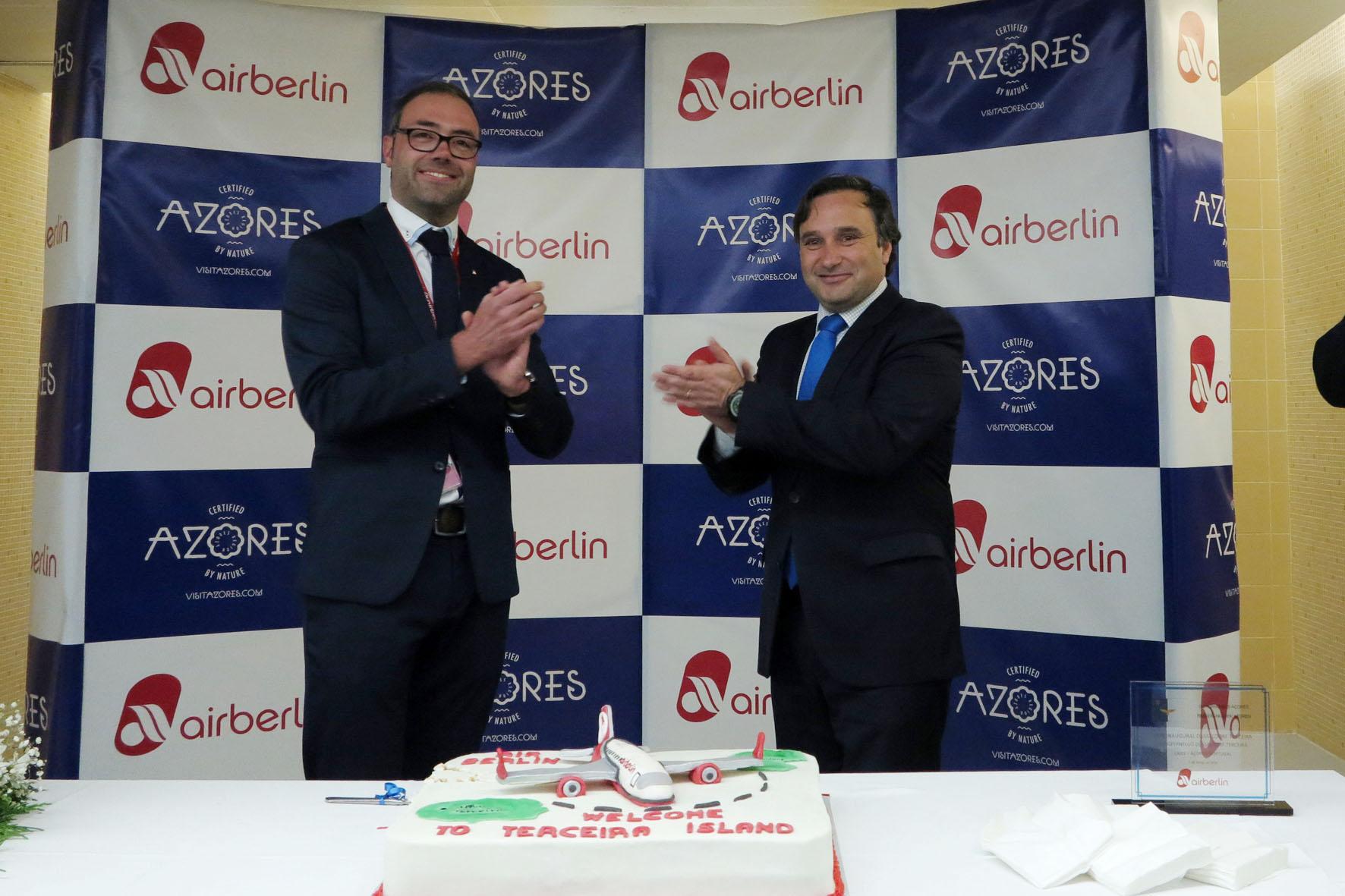 """Operação da Air Berlin para a Terceira é """"mais um passo na consolidação do setor do turismo"""", afirma Vítor Fraga"""