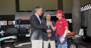 Luís Cabral entrega nova viatura de salvamento ao corpo de bombeiros da ilha das Flores