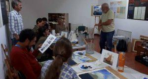 Museu Francisco Lacerda promoveu Workshop de Pintura em Acrílico e prepara sessão para bebés este sábado (c/áudio)