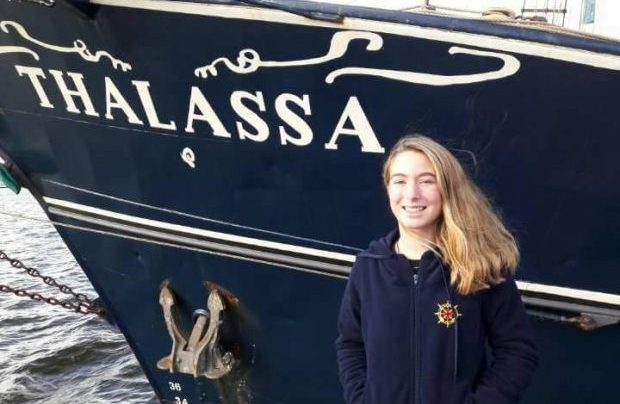 """Projecto """"School at Sea"""": Mariana Rosa já se encontra a bordo do """"Thalassa"""" em  Amsterdão"""