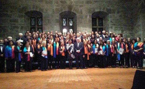 """Coro e Orquestra José Damião de Almeida foi até à cidade berço """"cantar e encantar"""" – Grupo jorgense levou no reportório músicas bem açorianas (c/áudio)"""