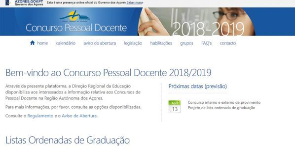 Lista de colocações dos candidatos ao concurso para contratação a termo resolutivo de pessoal docente para o ano letivo 2018/2019 já está disponível