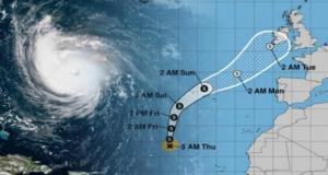 Meios de socorro colocados de prevenção devido à previsão da passagem da tempestade Helene