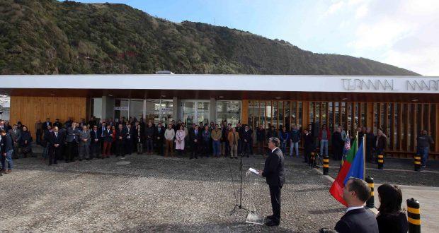 """""""Um dos mais vultuosos investimentos realizados"""" em S.Jorge a nível de acessibilidades marítimas foi inaugurado hoje – Vasco Cordeiro presidiu à inauguração do Porto das Velas (c/áudio)"""