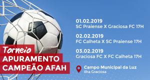 Torneio de Apuramento para o Campeão AFAH -Praiense, Graciosa FC e FC Calheta disputam título