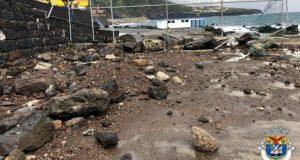 Autarquia das Velas já enviou ao Governo Regional relatório dos estragos causados pelo mau tempo de sábado na orla costeira do concelho (c/áudio)