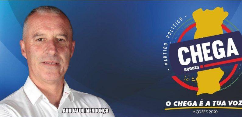 Adroaldo Mendonça é o cabeça de lista do CHEGA por São Jorge