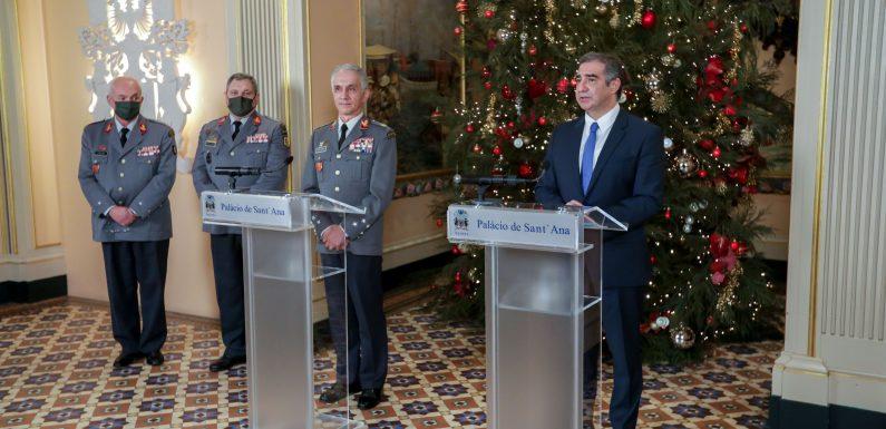 Presidente do Governo reconhece papel do Exército na proteção dos açorianos