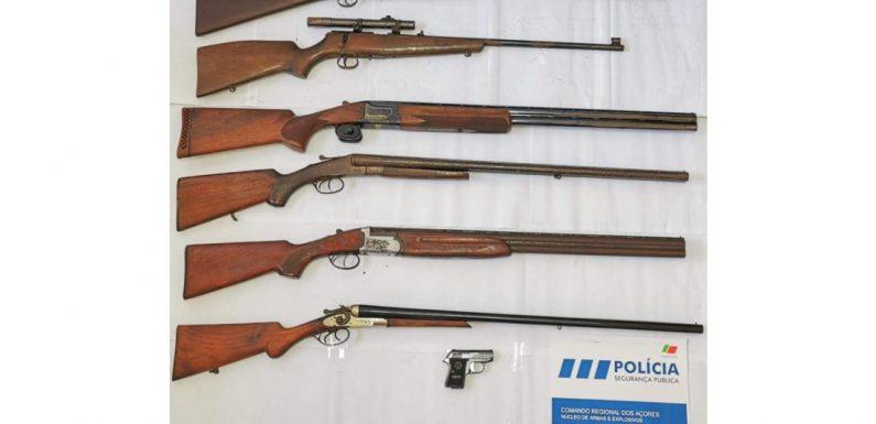 Apreensão de sete armas de fogo na ilha de São Miguel
