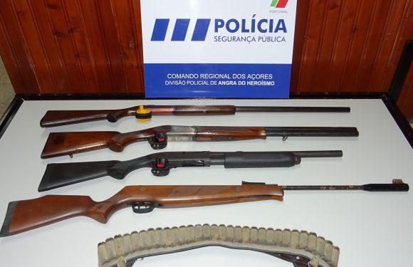 Apreensão de 4 armas e 30 munições na Ilha Terceira