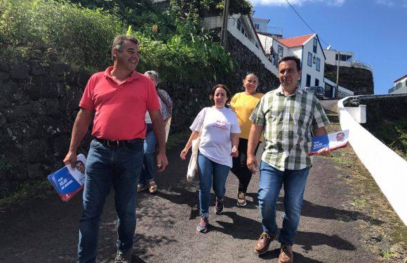 Ação de Campanha Eleitoral pelo PS Velas na Fajã do Ouvidor (c/áudio)