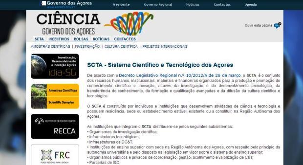 Abertos concursos para financiamento do Sistema Científico e Tecnológico dos Açores