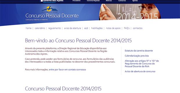 Lista do concurso extraordinário de pessoal docente disponível online na página da Direção Regional de Educação