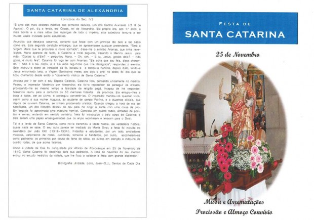 Vila da Calheta celebra dia da Padroeira Santa Catarina
