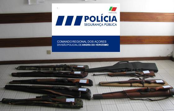 PSP apreende armas de fogo e munições em São Jorge após operação de fiscalização