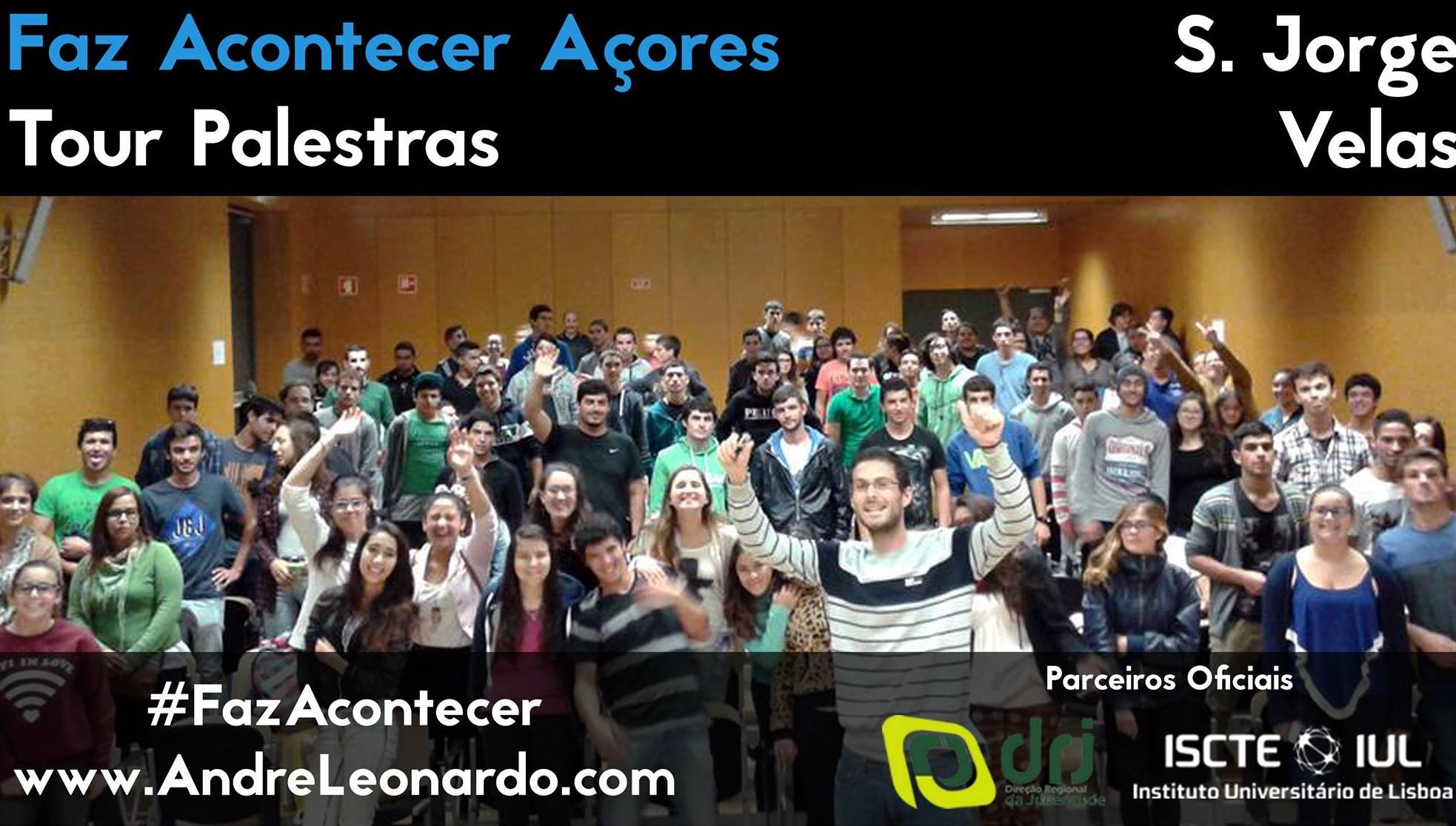 """Tour de palestras """"Faz Acontecer Açores"""", por André Leonardo, arrancou esta terça-feira na EBS das Velas (c/áudio)"""