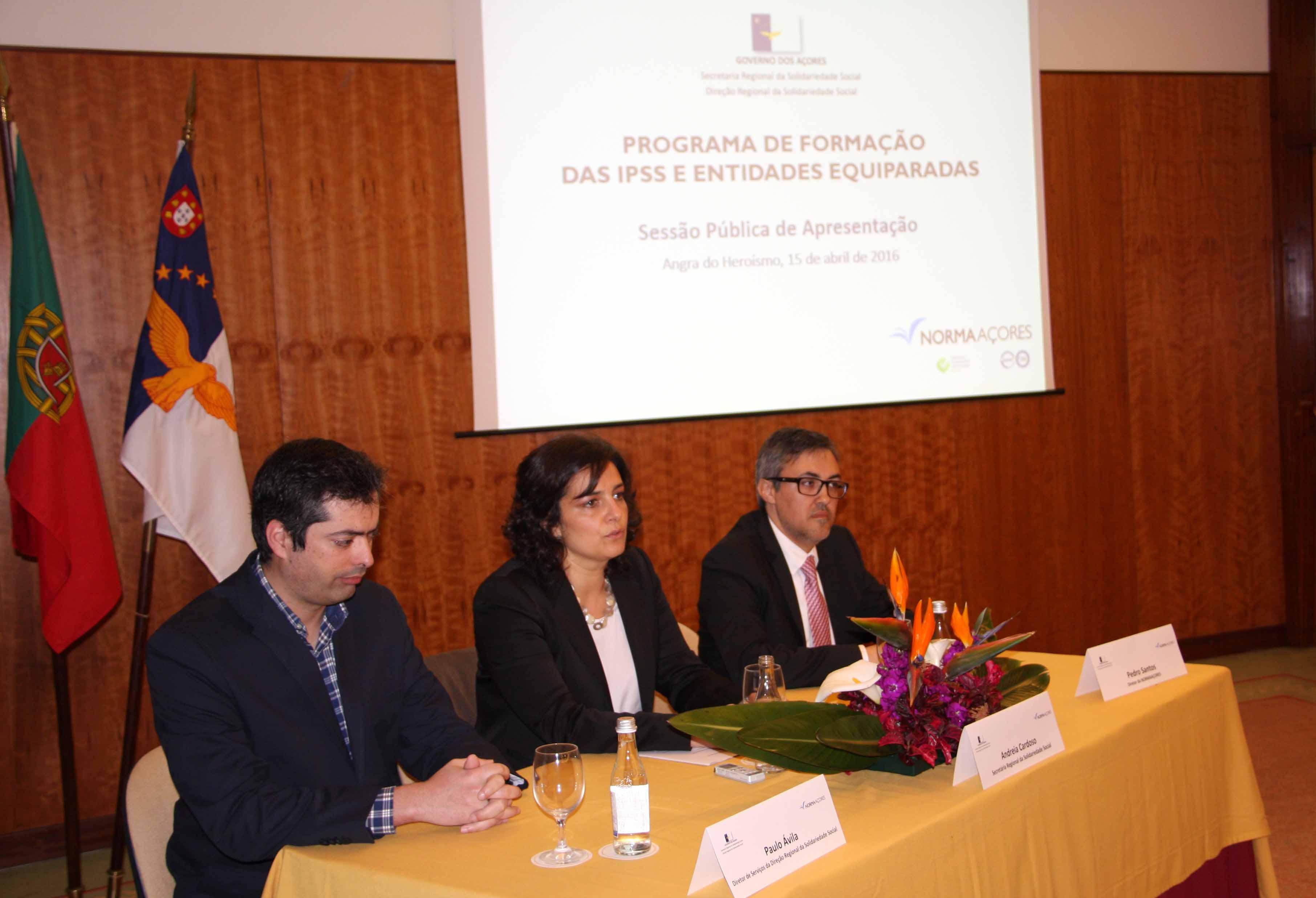 Governo dos Açores garante participação de todas as ilhas na formação das IPSS