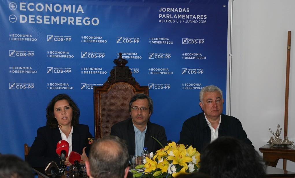 Artur Lima e Assunção Cristas atacam Governo Regional no final das Jornadas Parlamentares do CDS (c/áudio)