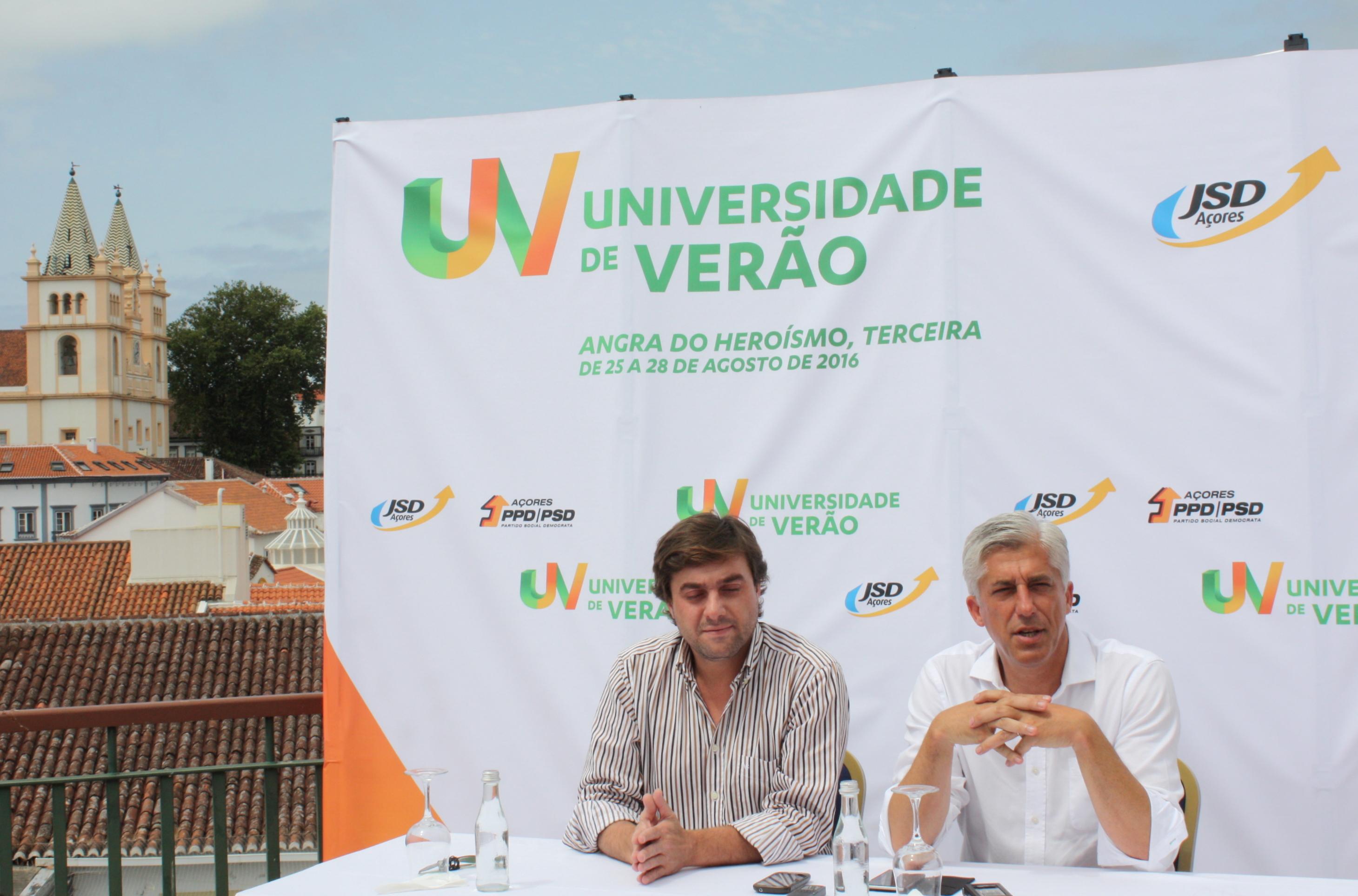 """Universidade de Verão """"é um velho sonho que está a formar os políticos de amanhã"""", afirma Duarte Freitas"""