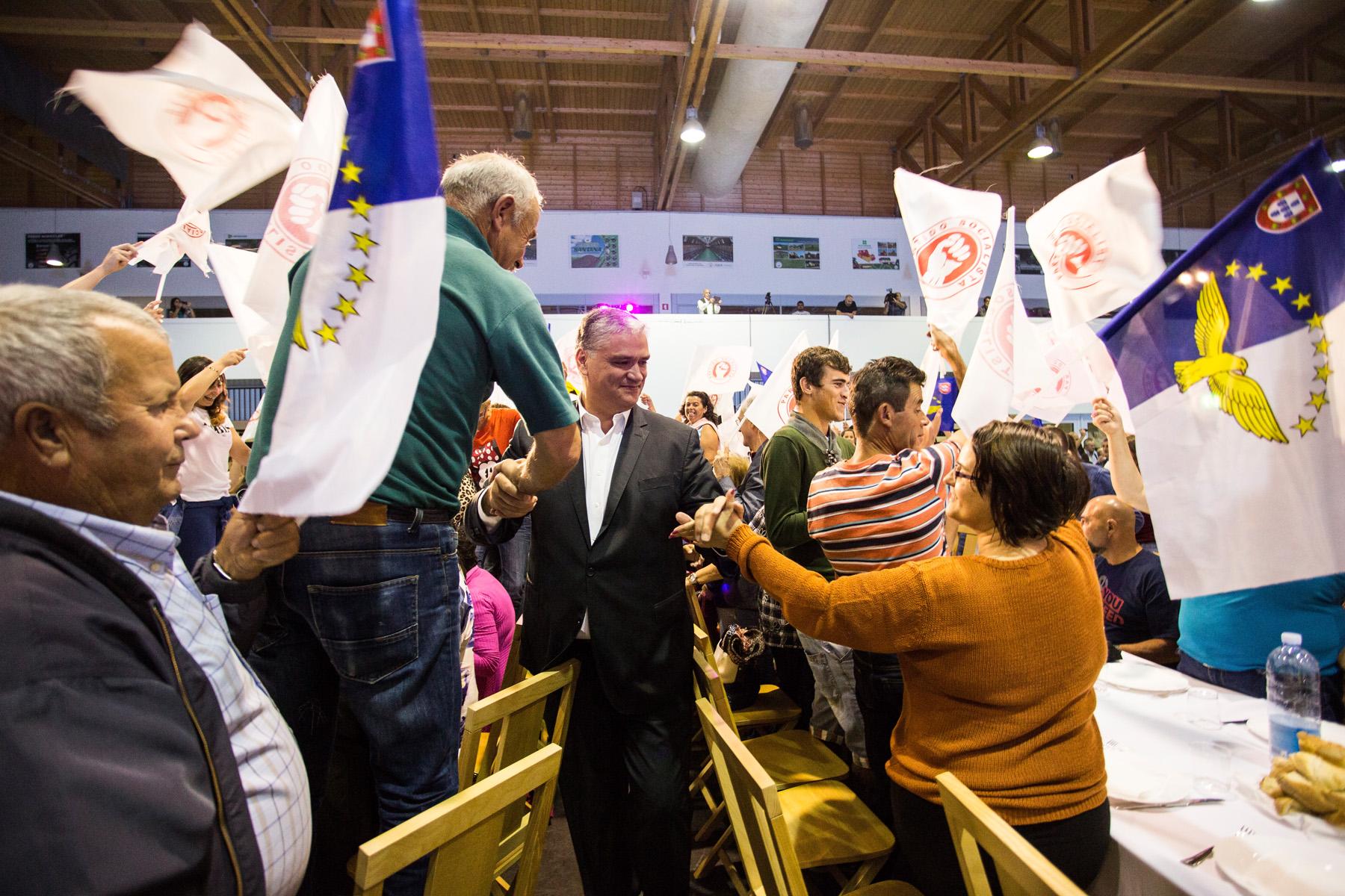 Vasco Cordeiro apela ao voto no PS para dar mais força aos Açores e à Autonomia