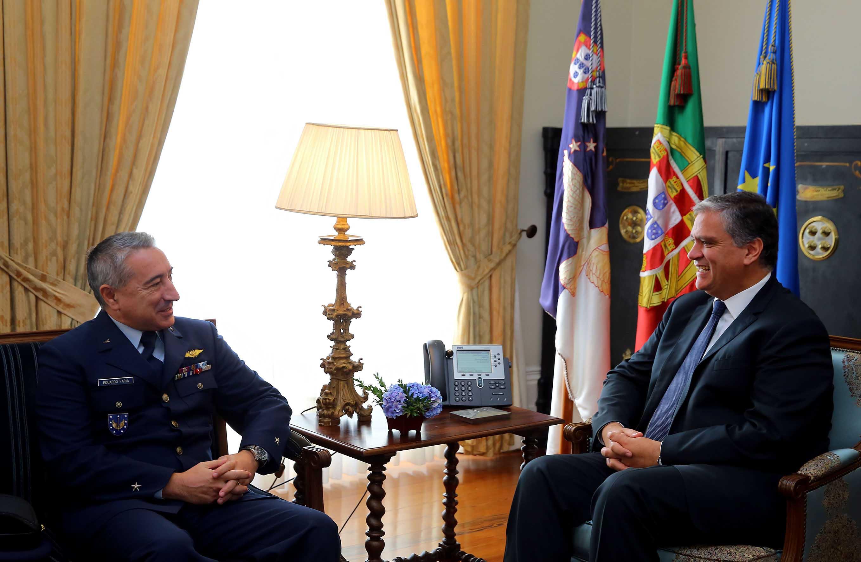 Presidente do Governo recebeu novo Comandante da Zona Aérea dos Açores