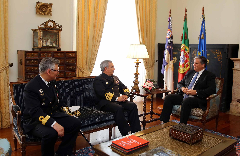 Presidente do Governo recebeu Vice-Chefe do Estado-Maior da Armada