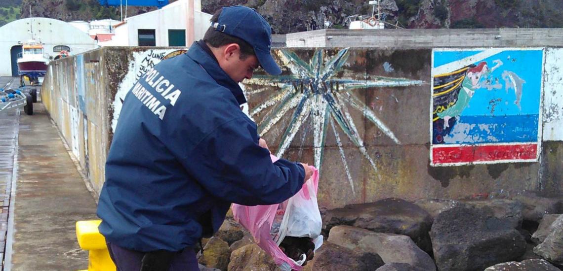 Polícia Marítima da Horta interceta apanhador de lapas em período de defeso