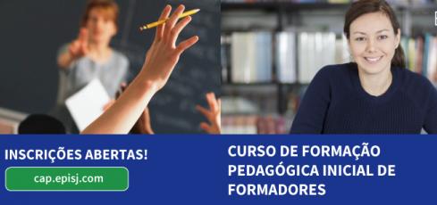 Inscrições abertas para Curso de Formação Pedagógica Inicial de Formadores na Escola Profissional de S.Jorge