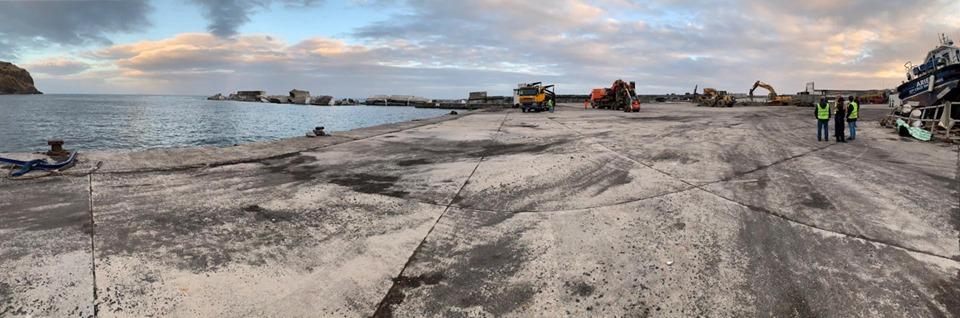 Porto Comercial das Lajes das Flores – 70% da área do terrapleno já está limpa