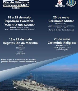 Comemoração do Dia da Marinha de 2021 nos Açores