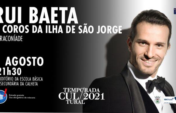 Rui Baeta em concerto com Coros de São Jorge no próximo dia 1 de agosto